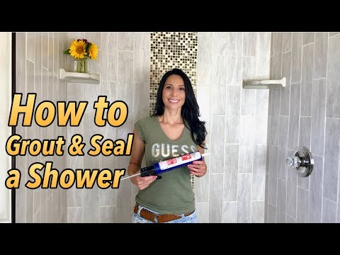 How to Grout and Seal a Shower