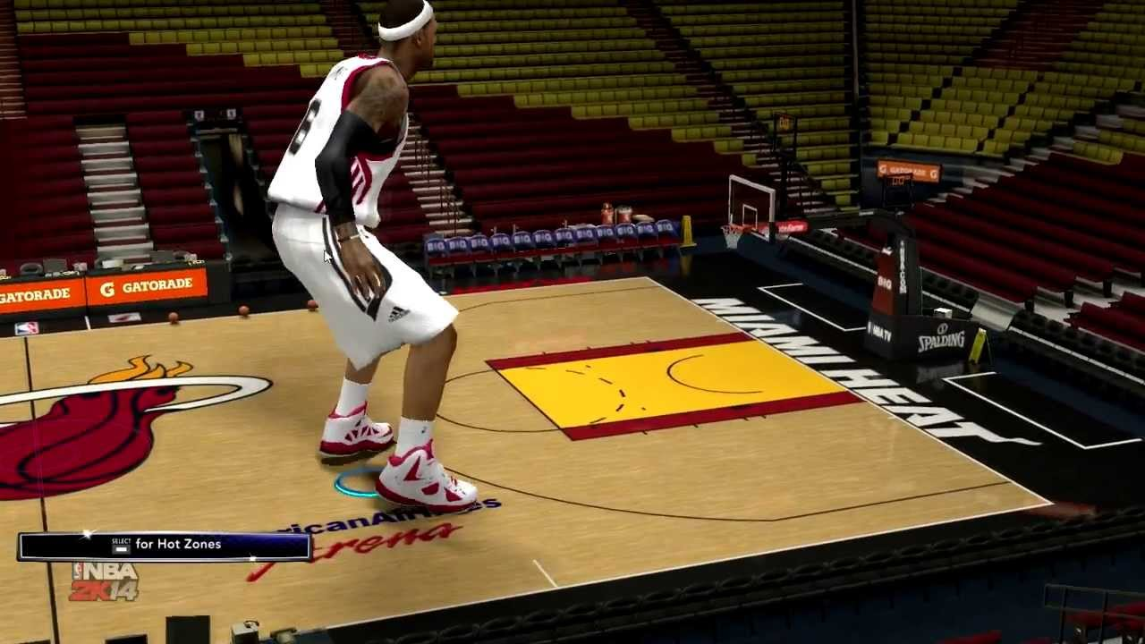 Nba 2k14 Height Hack 30 Foot Lebron James Youtube