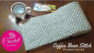 HOW TO CROCHET A SCARF FOR MEN #1 EXCLUSIVE✨ STITCH  ☕THE CROCHET SHOP by NANNO