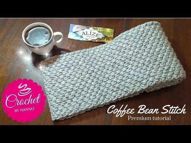 HOW TO CROCHET A SCARF FOR MEN #1 EXCLUSIVE✨ STITCH |☕THE CROCHET SHOP by NANNO