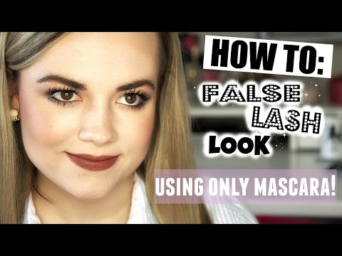 HOW TO: False Lash Look - Using Only Mascara!  |  Faces by Cait B
