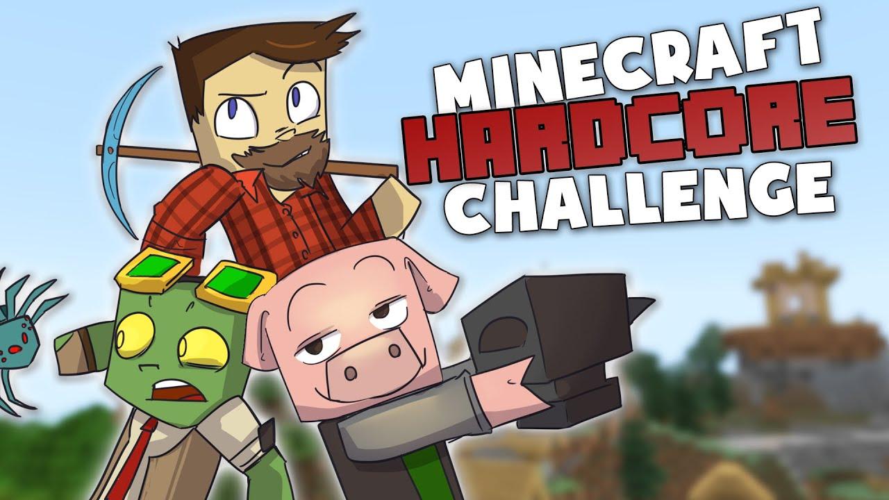 Anvil Anarchy! - Minecraft Hardcore Challenge w. DadCraft73 and ThePigglesworth! #1