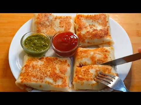 Cheesy Veg Crepes ♥️| Pure Veg Version  | Easy Breakfast Recipe