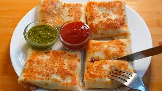 Cheesy Veg Crepes ♥️| Pure Veg Version  | Easy Breakfast Recipe
