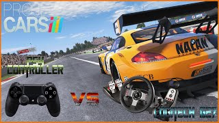 "Project CARS  - PS4 ""controller"" VS VOLANT"