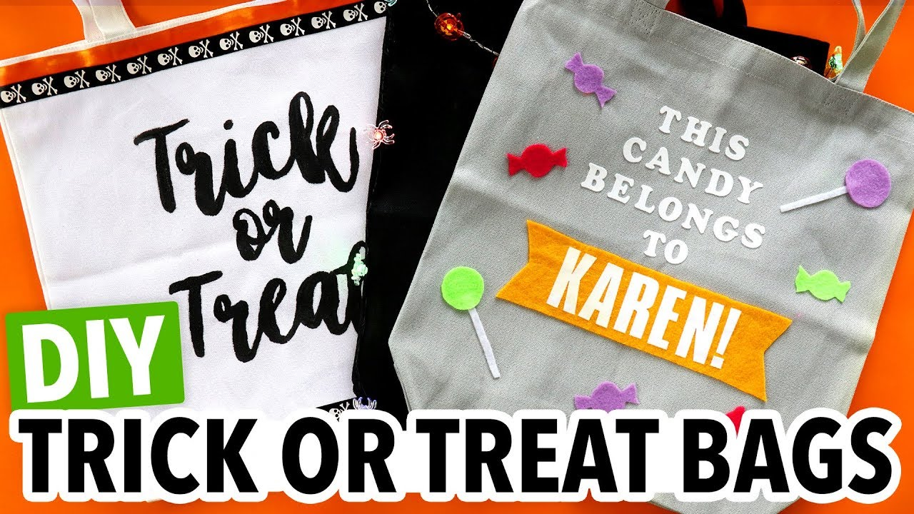 Diy Halloween Trick Or Treat Bags.Diy Halloween Trick Or Treat Tote Bags Hgtv Handmade
