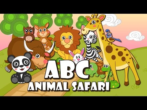 ABC Song - Animal Safari | BabyMoo