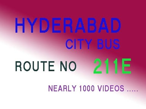 HYDERABAD CITY BUS FROM SECUNDERABAD TO IVY LEAGEE ACADEMY  ROUTE NO BUS NO 211E
