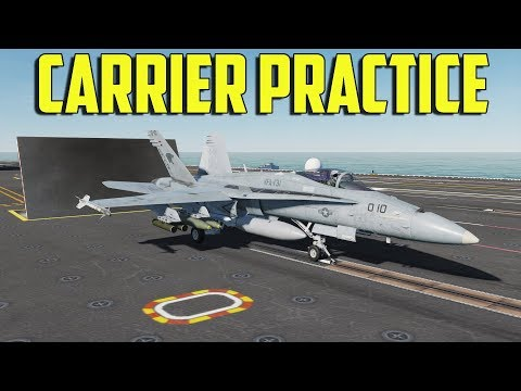 DCS F/A-18C - Carrier Practice