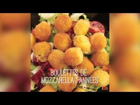 Boulettes de mozzarella pannées