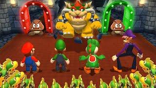 Mario Party 9 MiniGames - Mario Vs Luigi Vs Yoshi Vs Peach (Master Cpu)