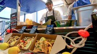 Fried Fish and Seafood the Sicily Way. Italian Street Food, London