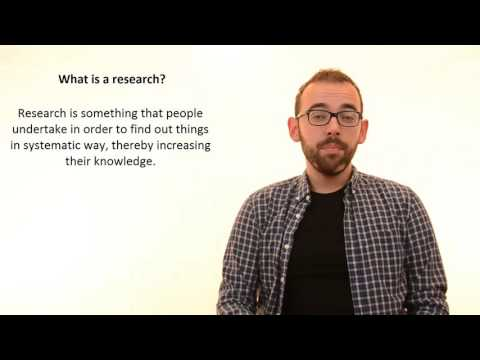 1.1 What Is A Research