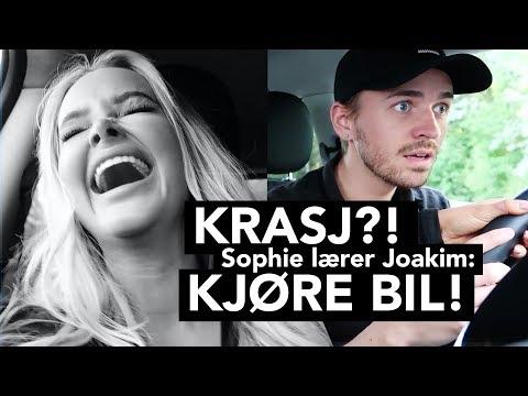 Sophie Elise lærer Joakim Kleven å kjøre!