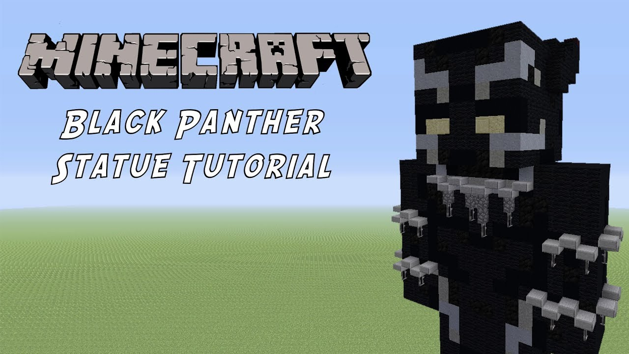 Minecraft Tutorial Black Panther Marvel Statue Youtube