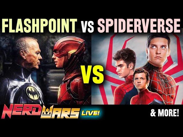 Flashpoint vs Spider-Verse: Which Is Better & Mandalorian Movie?! - Nerd Wars LIVE