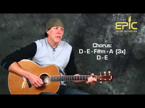 How to play Pink Who Knew acoustic guitar song lesson with chords strumming patterns all parts