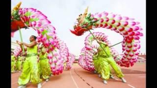 สงโตจีนเต้รรำมักกรจีนเต้นรำ