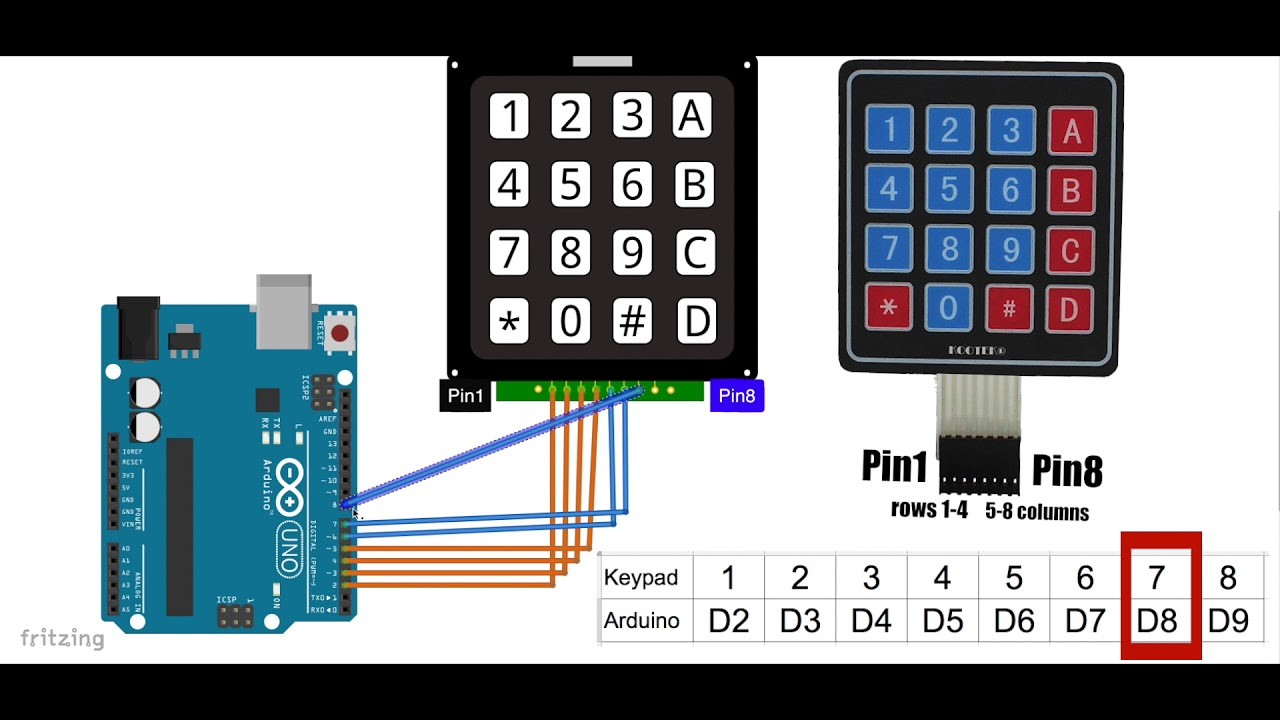 4x4 Keypad with Arduino Tutorial