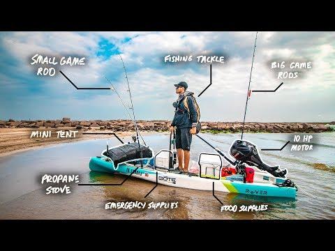 Mini-boat Loaded Down For Overnight Island Jetty Fishing Adventure