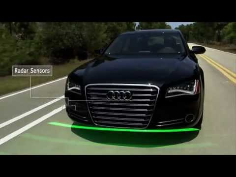 Audi S8 ► Active Safety demo [CES 2015-2014]
