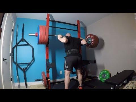 5-24-2018 Bulgarian Training - Squat, CGBP, Chin Up, Press & Row