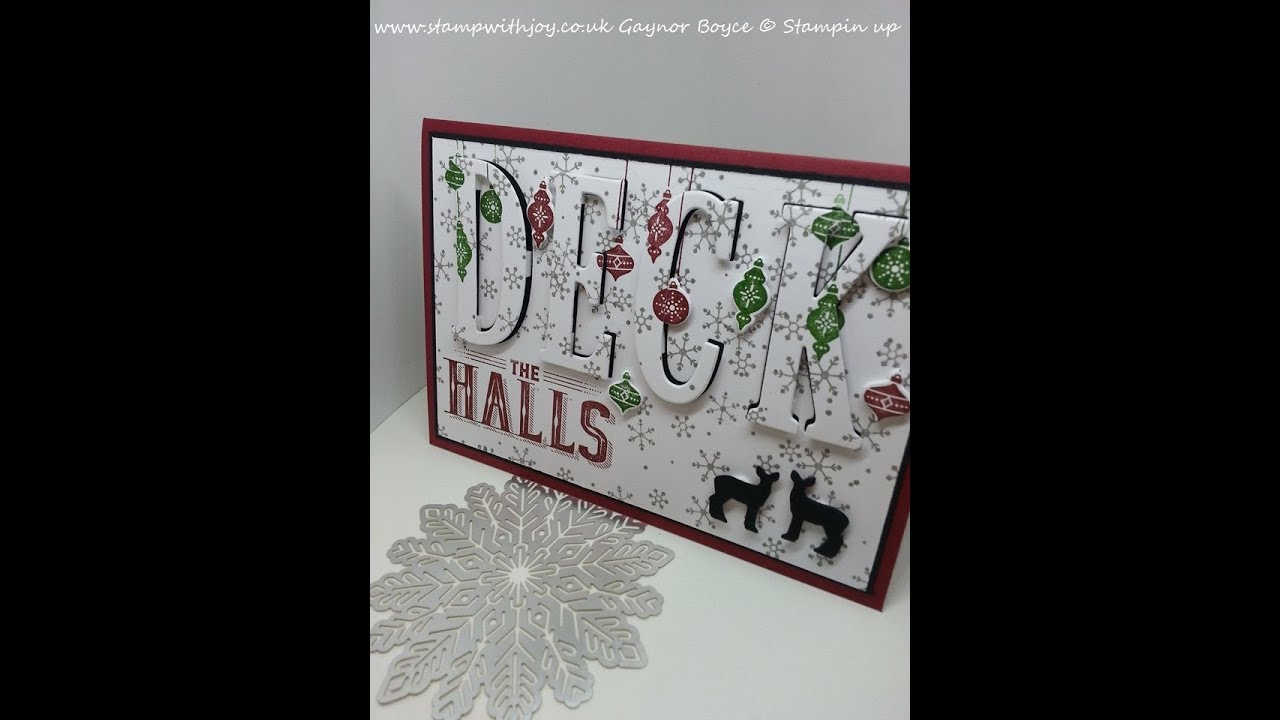 Deck The Halls Eclipse Card Stampin Up X YouTube