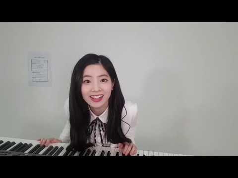 TWICE's Dahyun playing piano