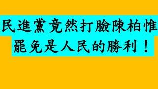 民進黨打臉陳柏惟 罷免是民主政治!