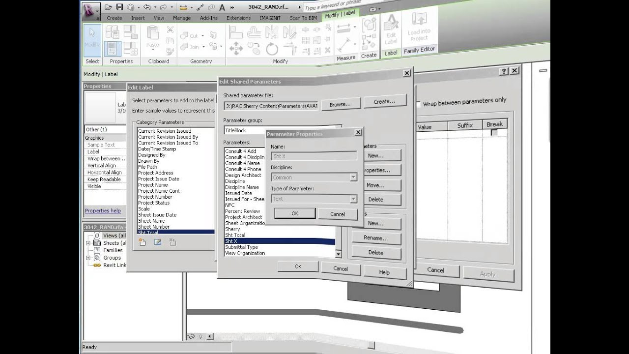 Revit: Shared Parameters in the Title Block
