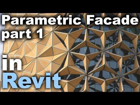 Al Bahar Parametric Facade Family in Revit Tutorial * Part 1 *
