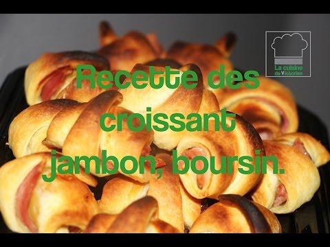 recette-croissant-jambon,-boursin.