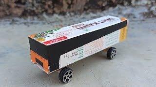 How to make a colgate Bus at home | Patanjali box mini electric bus DIY