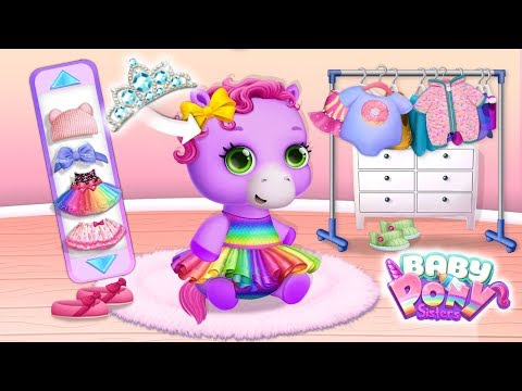 Dress Up Time! Baby Pony Sisters - Virtual Pet Care \u0026 Horse Nanny   TutoTOONS Cartoons \u0026 Kids Games
