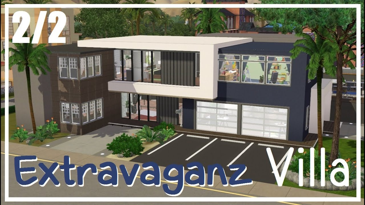 sims 3 hausbau extravaganz villa 2 2 youtube. Black Bedroom Furniture Sets. Home Design Ideas
