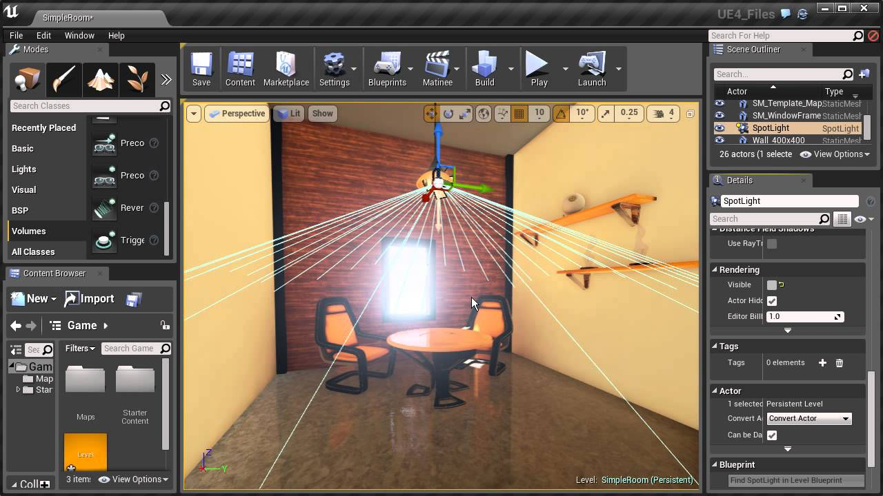Creating a toggleable light in unreal engine using blueprint youtube creating a toggleable light in unreal engine using blueprint malvernweather Choice Image