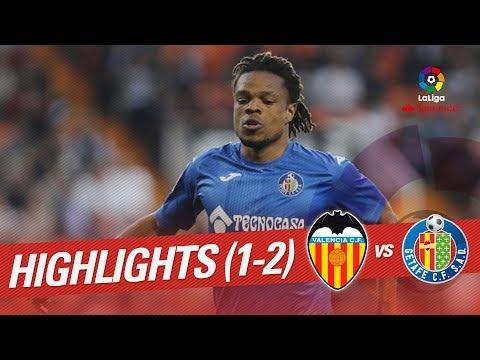 Resumen de Valencia CF vs Getafe CF (1-2)