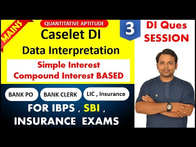 Caselet DI based on SI CI for MAINS - Practice Session - 3 for IBPS , SBI , Insuranse Exam #DIMaster