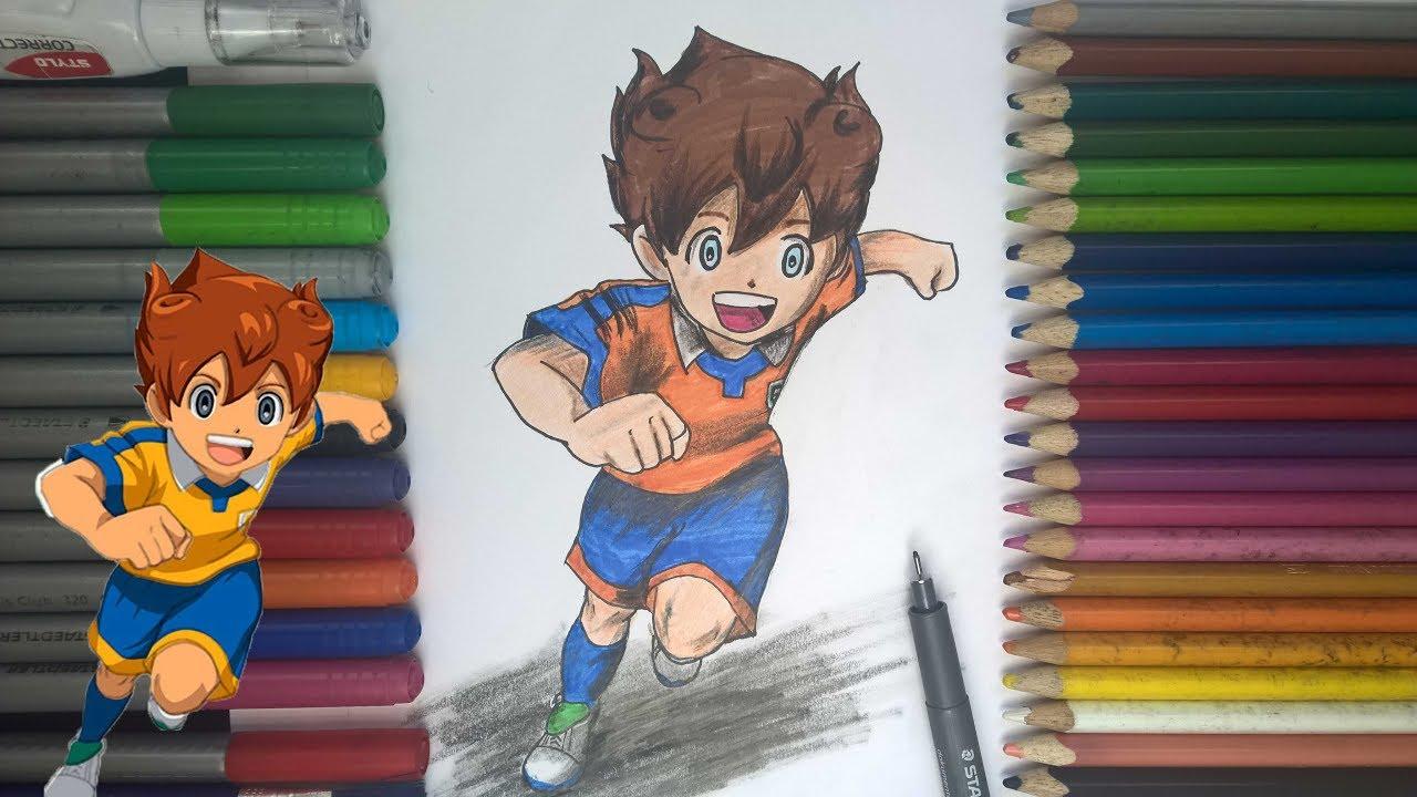 رسم بيان تنيما من انمي آبطال الكرة الفرسان خطوة بخطوة للمبتدئين Youtube