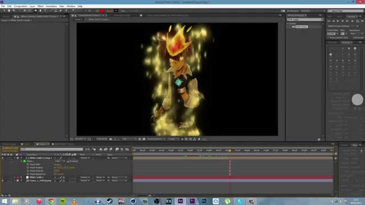 Manycam effect super saiyan hair -  After Effects Tutorial Super Saiyan Aura And Meshwarp Youtube