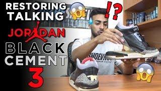 Air Jordan Black Cement 3s Full Restoration Tutorial with Vick