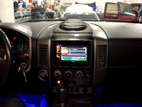 Custom Nissan Titan >> ipad mini in car - YouTube