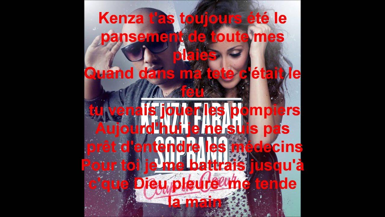 Coup de coeur kenza fara ft soprano paroles youtube - Coup de coeur kenza farah paroles ...