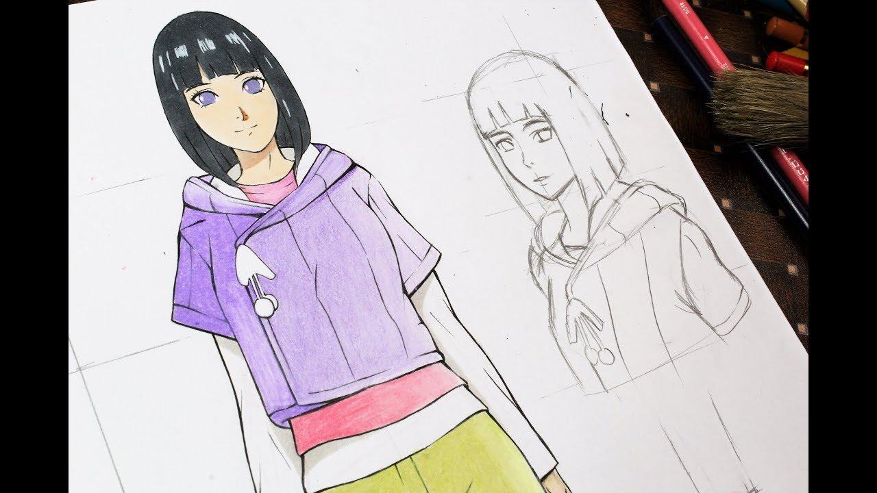 Anime Girl Drawing Line Art