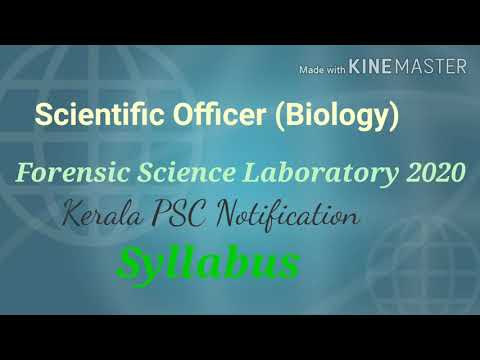 Scientific Officer Biology Forensic Science Laboratory 2020 Kerala Psc Syllabus Youtube