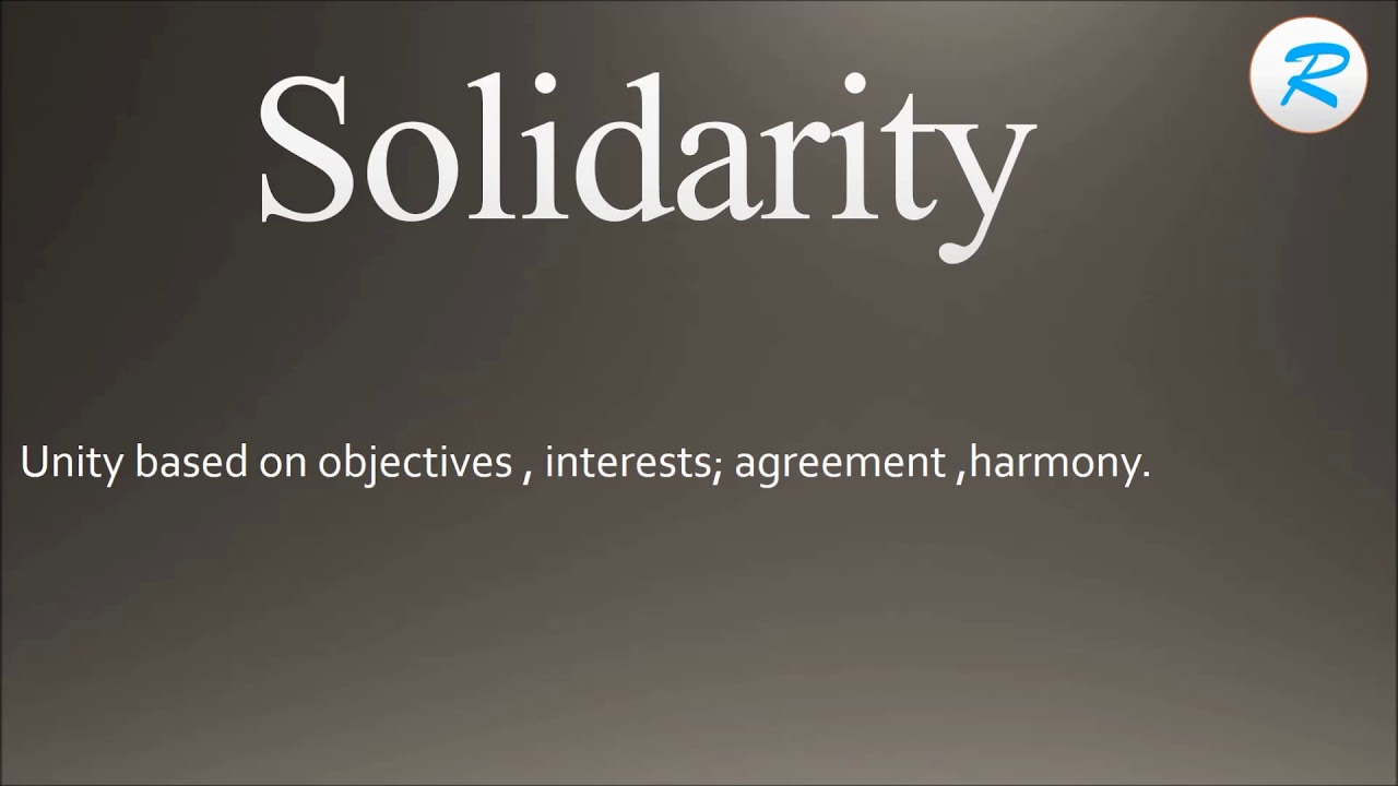 How to pronounce Solidarity