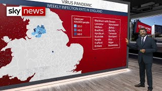 The average rate that an infected person passes virus on to someone else is between 0.8-0.9 - but some areas are seeing a spike in number. according ...