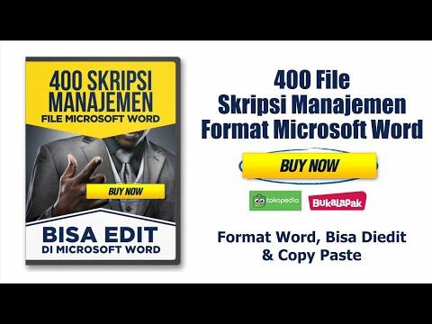 Skripsi Manajemen Microsoft Word Bisa Diedit Copy Paste 400 File