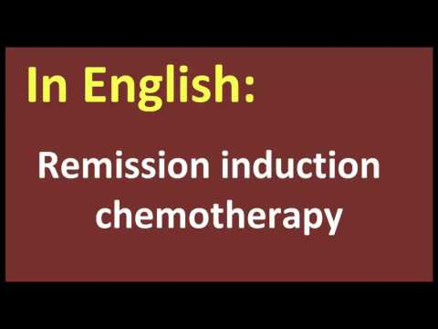 Remission induction chemotherapy arabic MEANING