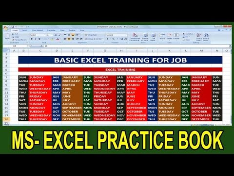 Ms Excel Crash Course Edition For Job Training || Ms Excel Basic Concepts For Job ||